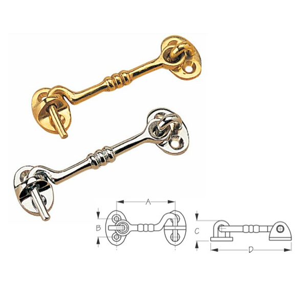 Sea-Dog Brass Cabin Door Hooks